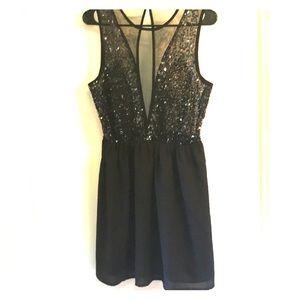 Forever 21 Black Sequin Dress, Size Large